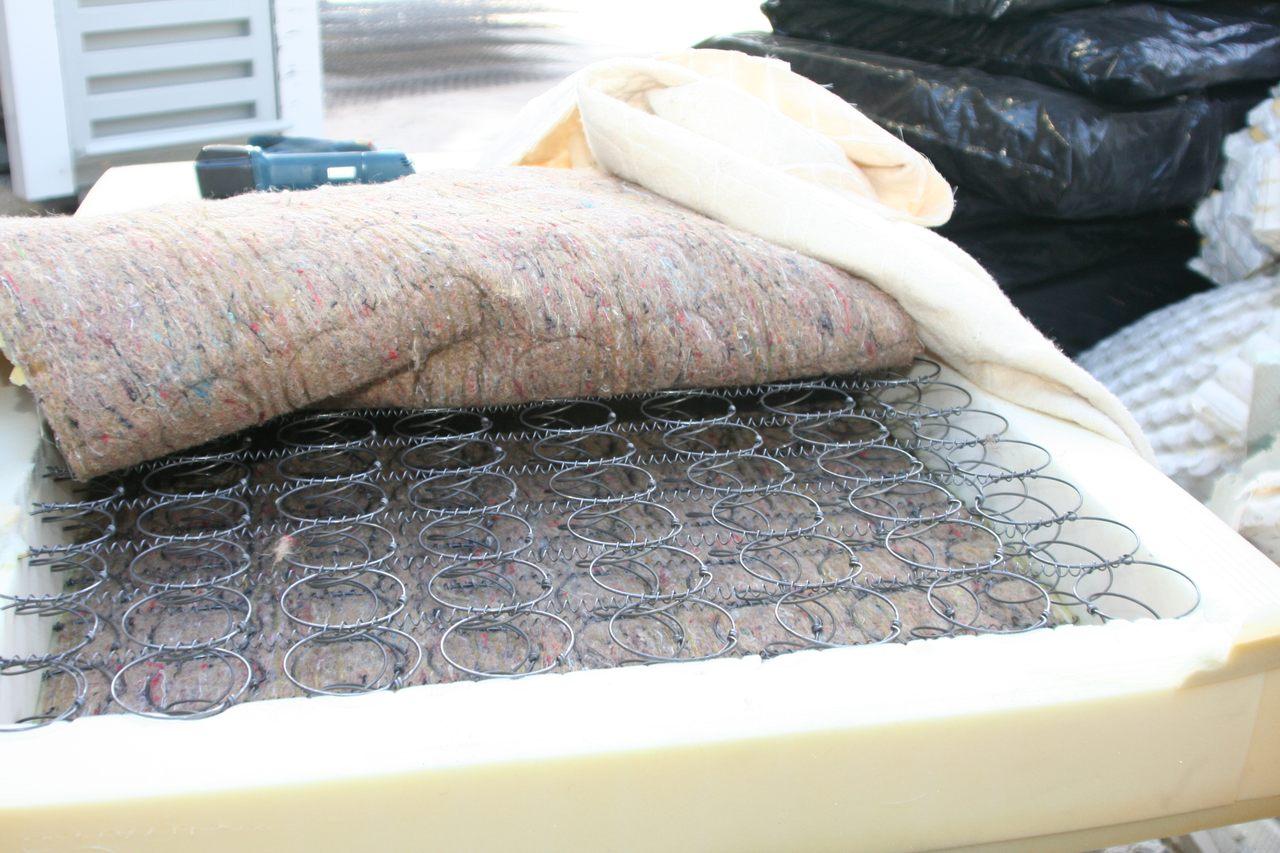 recycling wat en hoe matrassen. Black Bedroom Furniture Sets. Home Design Ideas