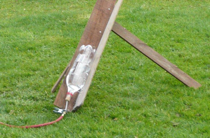 Waterraket klaar voor lancering